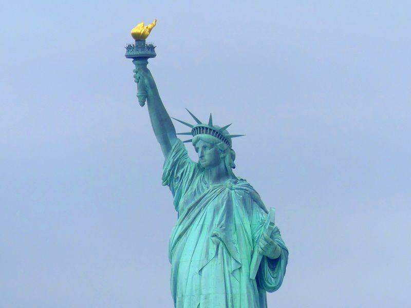 Die Freiheitsstatue in Manhattan