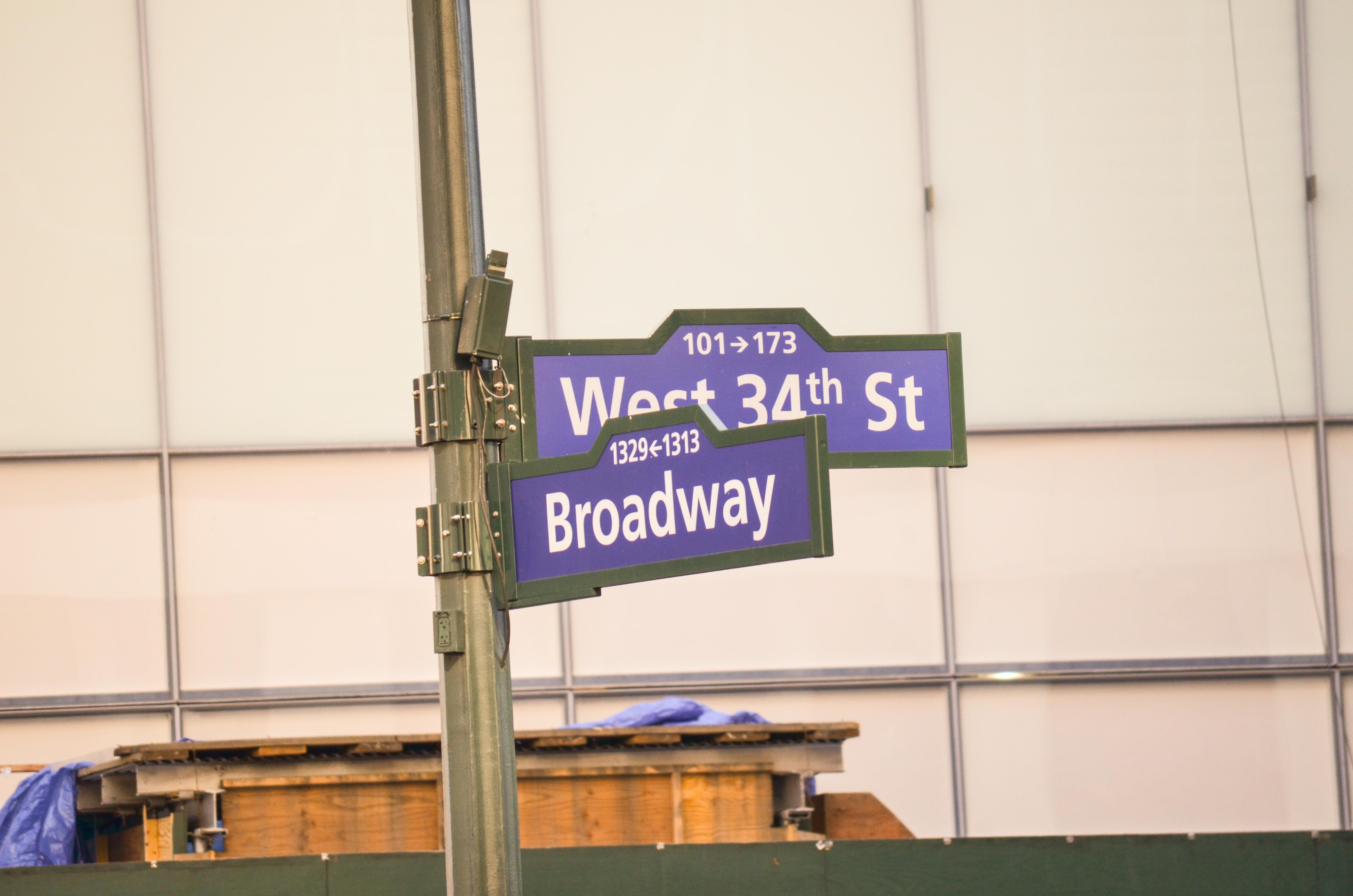 Straßenschilder New York