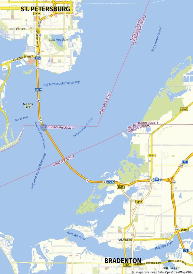 Sunshine Skyway Bridge Karte