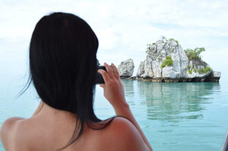 Fahrt mit dem Boot zum Mu Ko Ang Thong Marine Nationalpark