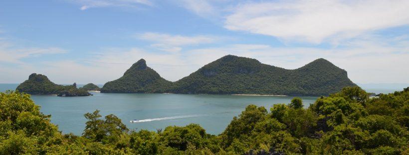 Inseln im Mu Ko Ang Thong Marine Nationalpark in Thailand
