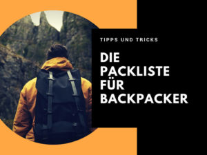 Packliste für Backpacker