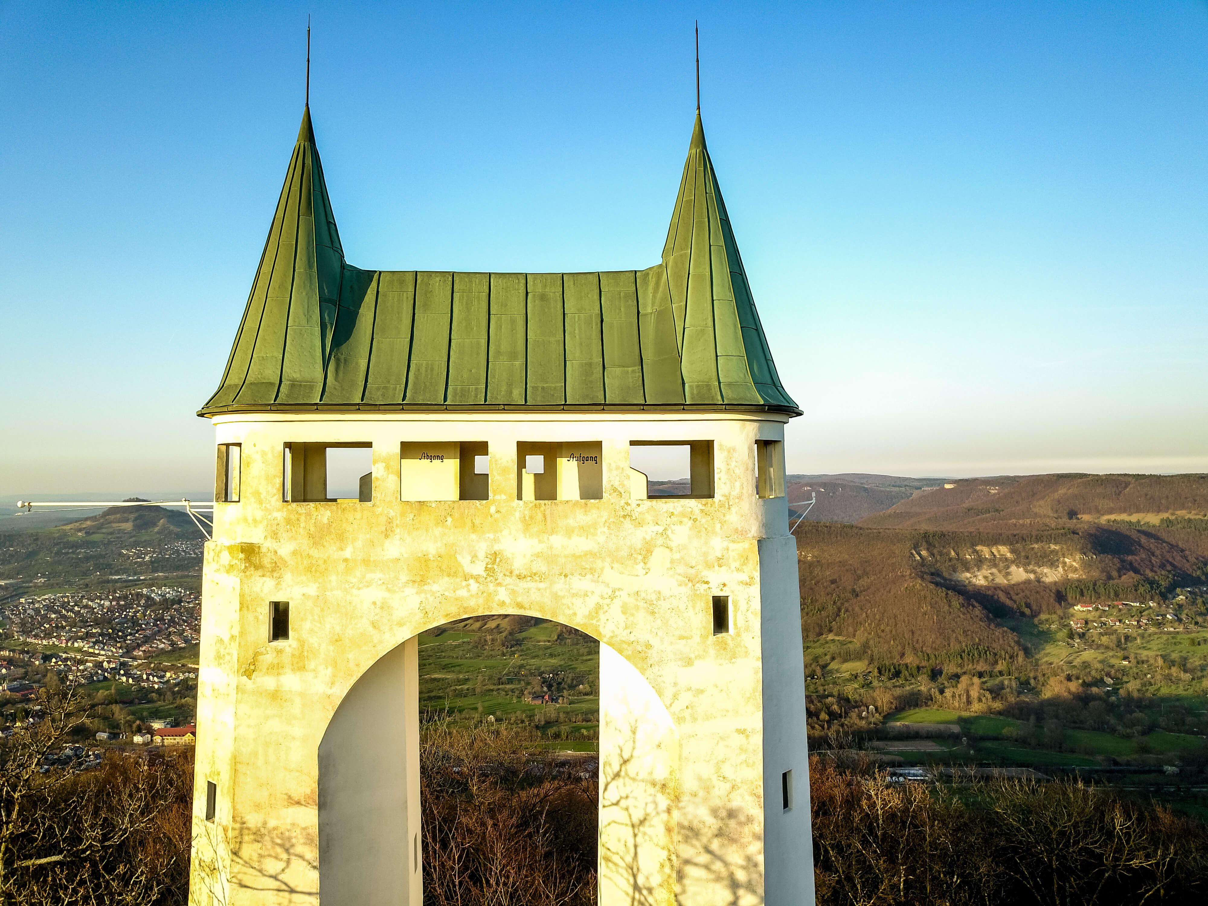 Drohnenbild Schönbergturm