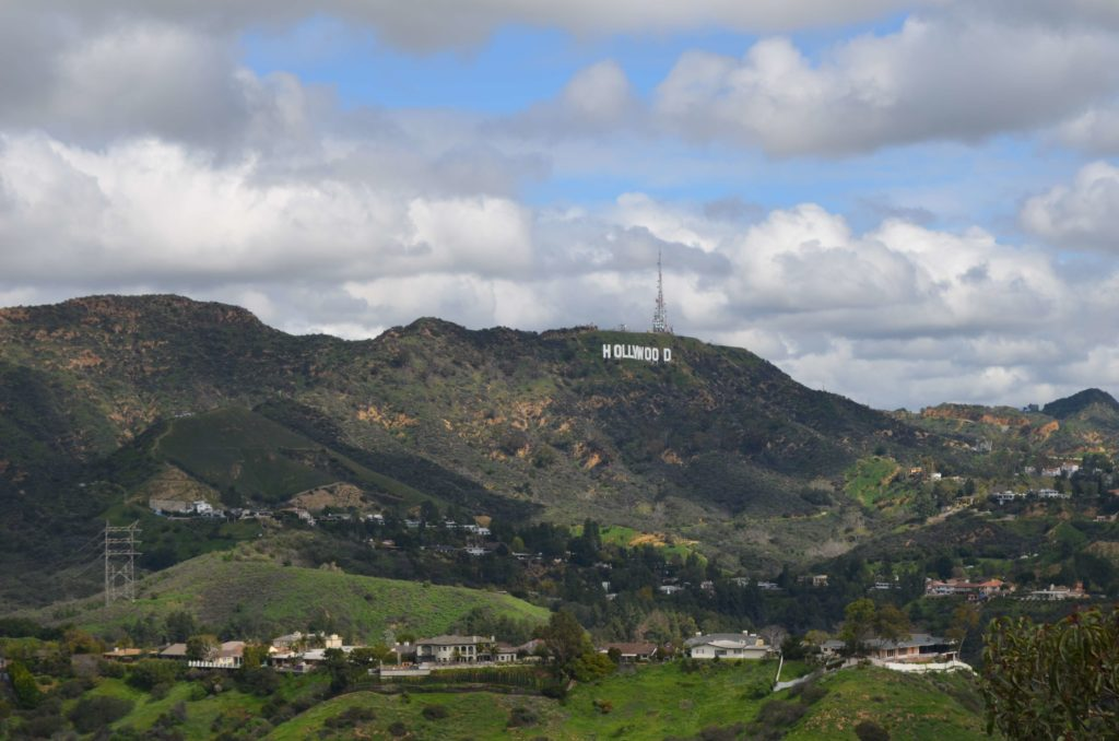 Ausblick aufs Hollywood Sign in Los Angeles