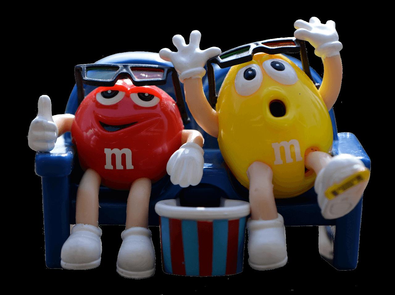 Coole M&M´s Figuren im M&M´s Store am Times Square