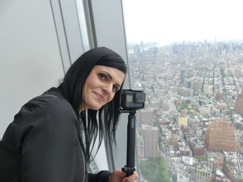 Maria auf dem One World Trade Observatory
