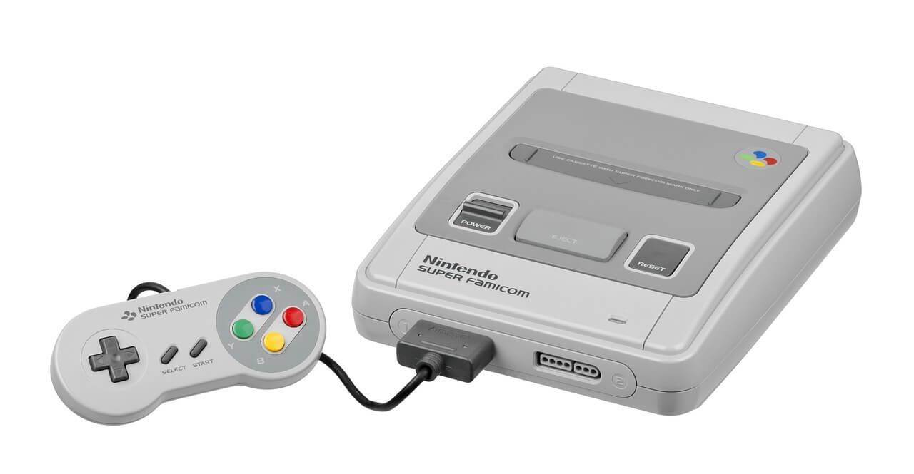 Super Nintendo Konsole im Nintendo Store in New York