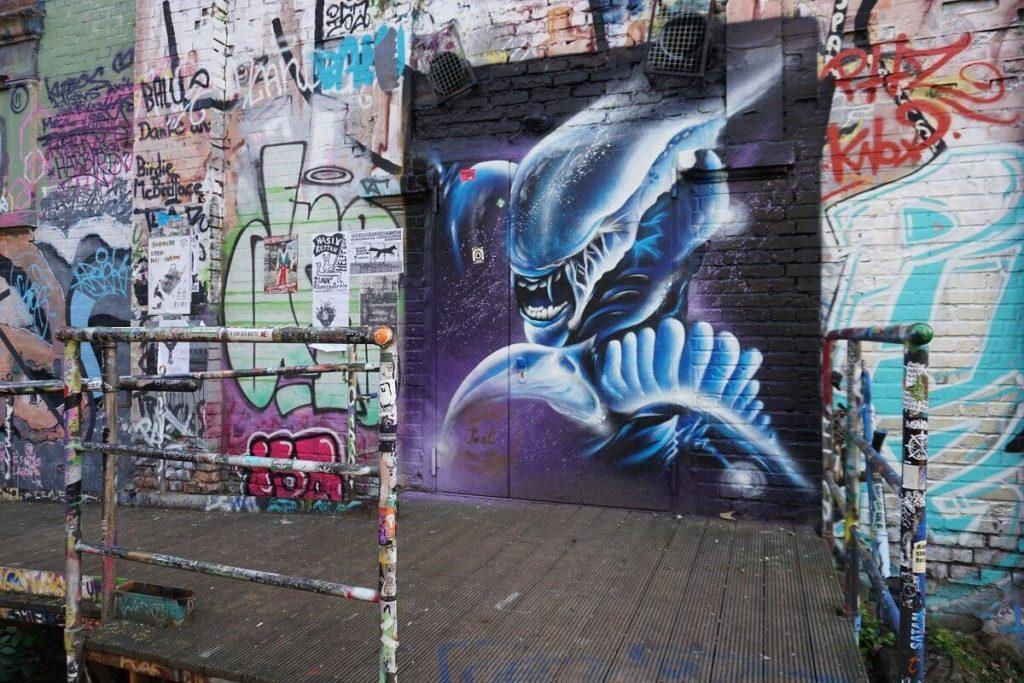 Beeindruckendes Graffiti in Plagwitz Leipzig