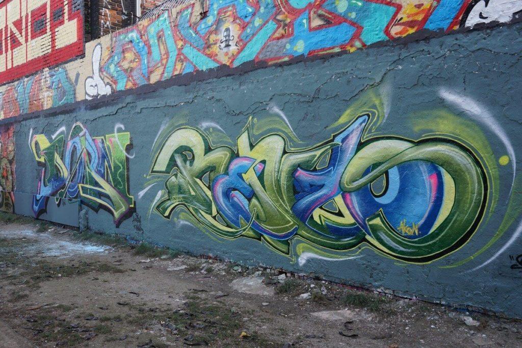 Graffiti auf einer Wand in Plagwitz