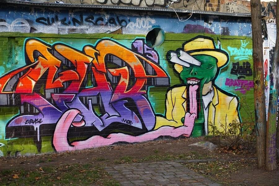 Die Maske Graffiti