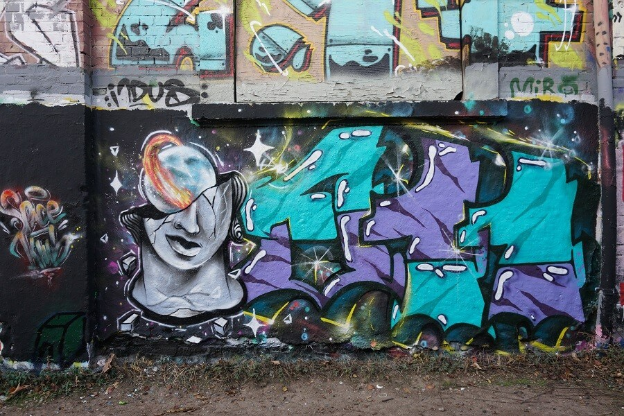 Graffitikunst in Plagwitz Leipzig