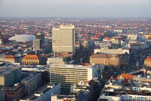 Sehenswürdigkeiten Leipzig - Panorama Tower Ausblick