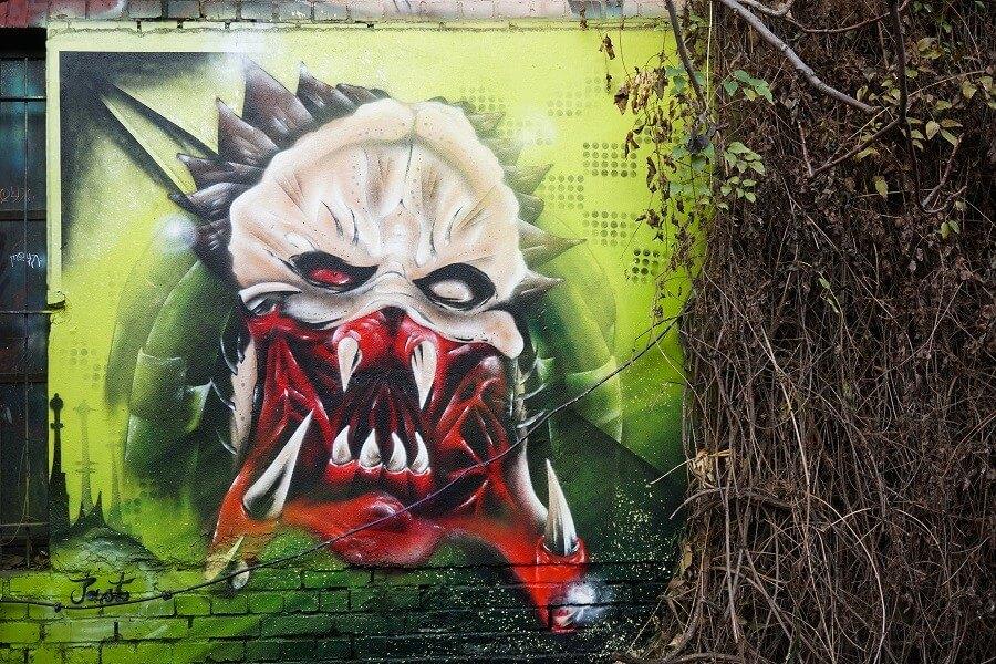 Ein sehr aufwendiges Graffiti in Leipzig