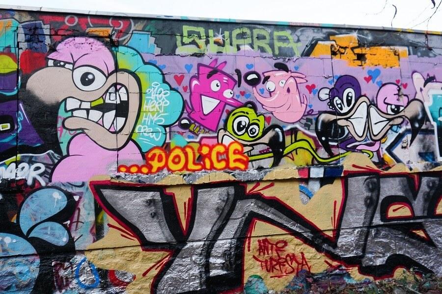 Graffiti Kunst an der Hall of Fame Leipzig