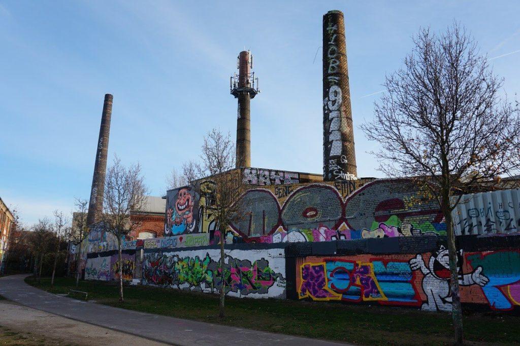 Bunte Graffitis in Leipzig