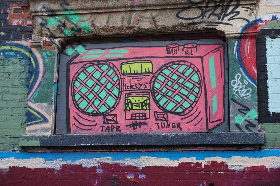 Kassettenrekorder Graffiti