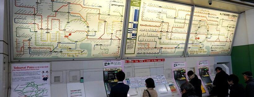 öffentliche Verkehrsmittel Tokio