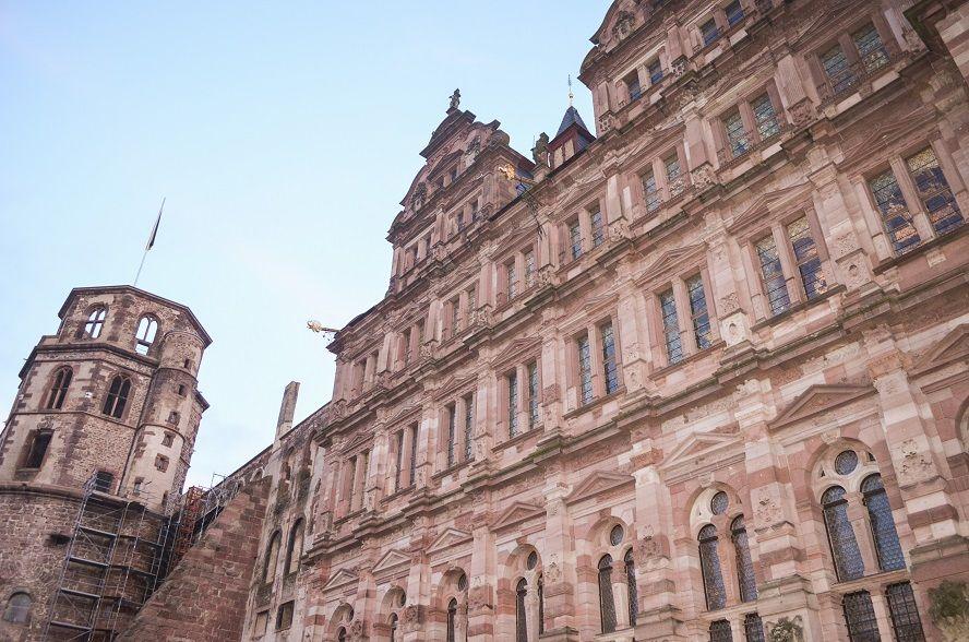 Ausblick auf das Schloss in Heidelberg