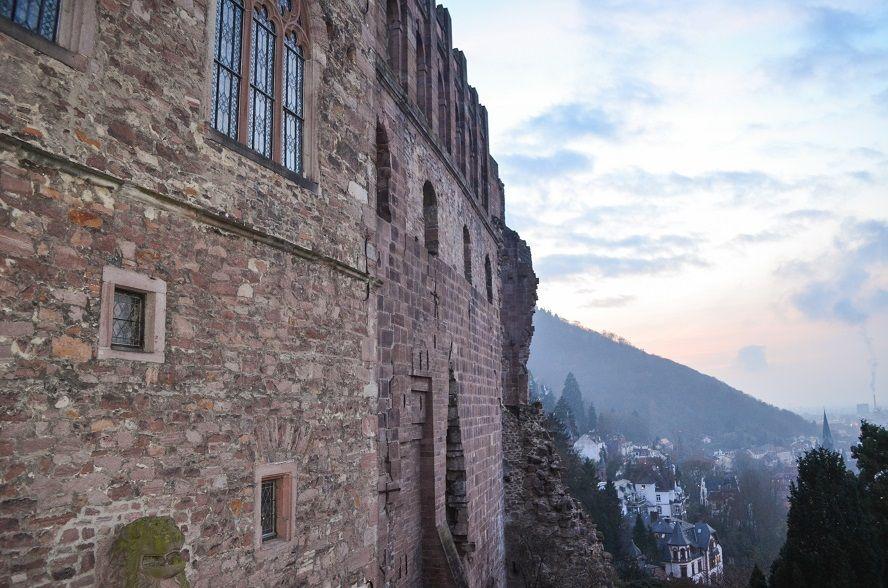 Burgmauern Schloss Heidelberg