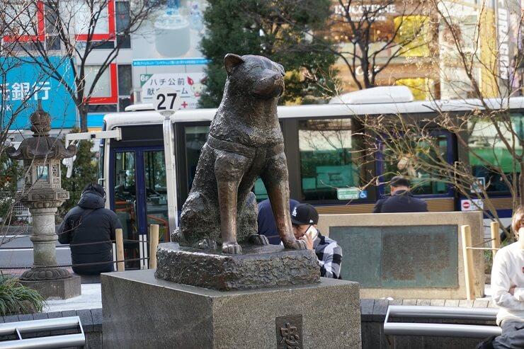 Hachiko Statue an der Shibuya Station