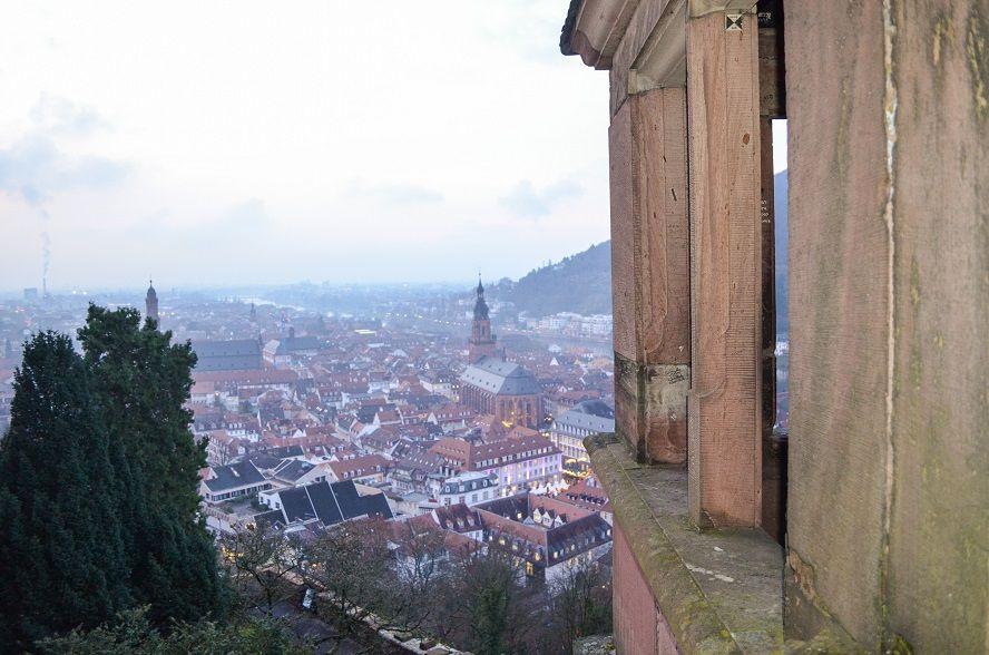 Aussicht vom Schloss in Heidelberg