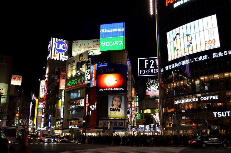 Das Viertel Shibuya in Tokio