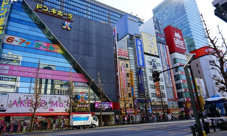 Straße in Tokio Akihabara