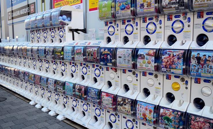 Capsule Toys in Tokio