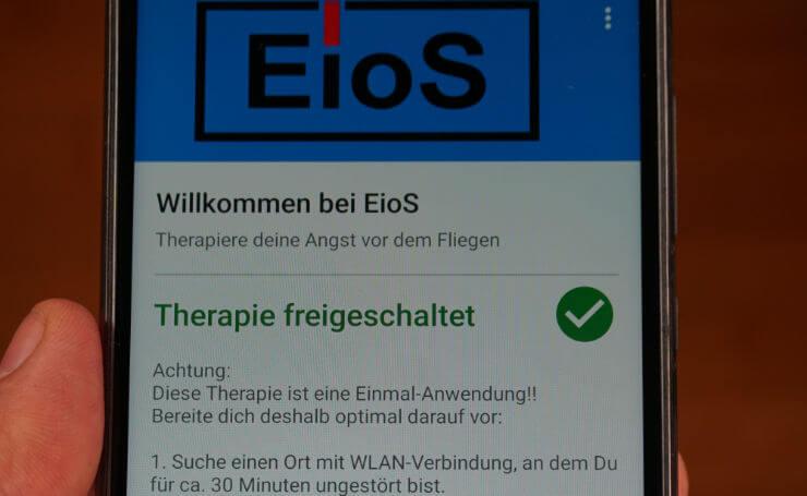 Die EioS App ist eine digitale Therapie gegen Flugangst