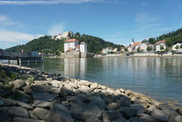 Flüsse in Passau Donau Ilz Inn Sehenswürdigkeiten